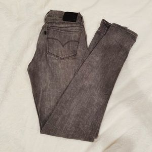 ❤️LIKE NEW Levi's 710 Super Skinny Gray Jeans❤️